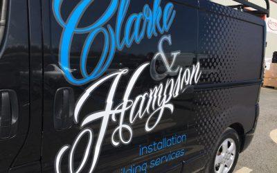 Clarke and Hampson Vehicle Wrap