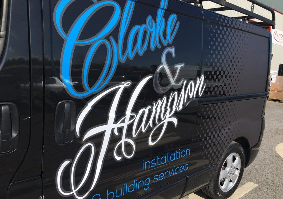 Clarke and Hampson Vehicle Wrap