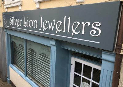Silver Lion Shop Sign - DSigns Devon